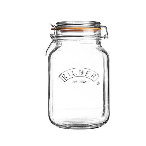 Kilner Clip Top Jar Square 1.5 Litre