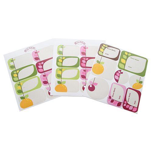 Kilner Pack Of 24 Fruit Blossom Labels