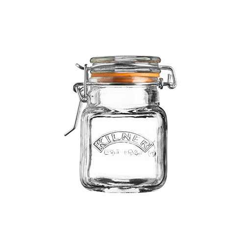 Kilner Clip Top Spice Jar Square 70ml Set Of 12