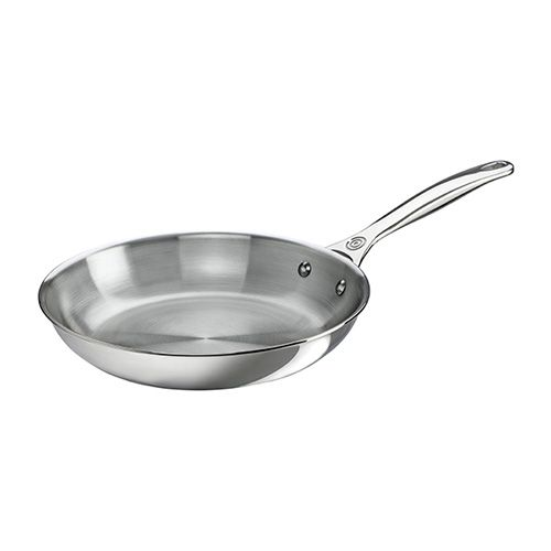 Le Creuset Signature 3-Ply Stainless Steel 26cm Frying Pan Stainless Steel Interiror