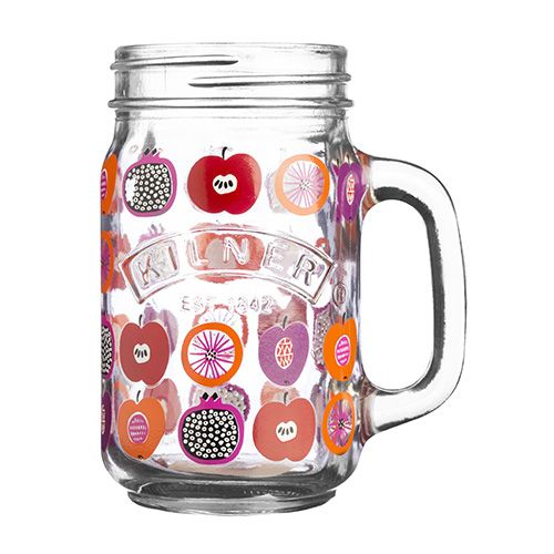 Kilner Handled Drinking Jar 400ml Fruit Punch
