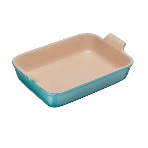 Le Creuset Teal Stoneware 26cm Deep Rectangular Dish