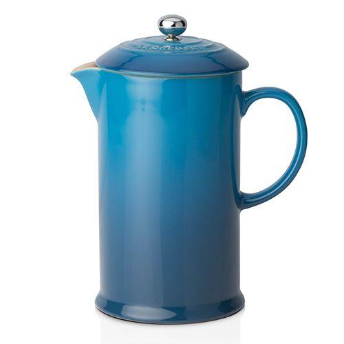 Le Creuset Marseille Blue Stoneware Cafetiere