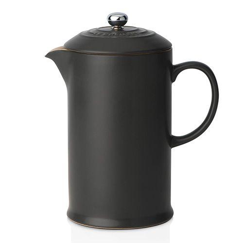 Le Creuset Black Stoneware Coffee Pot & Press