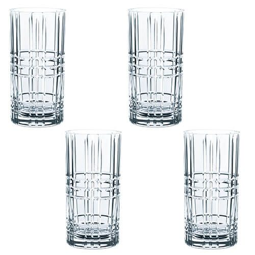 Nachtmann Square Long Drink Glass Set Of 4