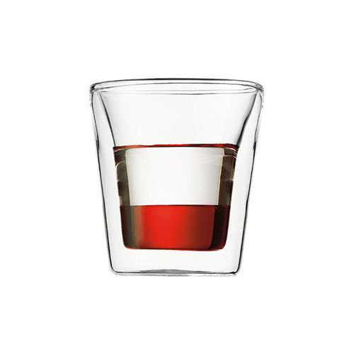 Bodum Canteen Glass Double Wall Cup 0.1L / 3oz Set Of 2