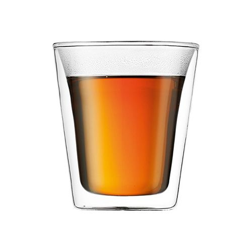 Bodum Canteen Glass Double Wall Cup 0.2L / 6oz Set Of 2