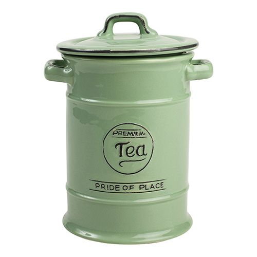 T&G Pride Of Place Tea Jar Old Green