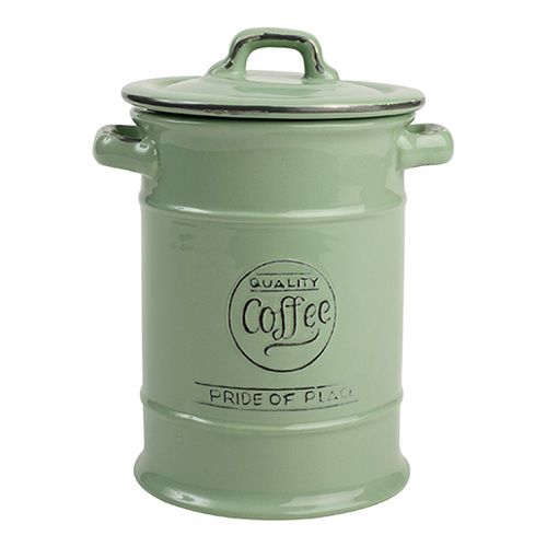 T&G Pride Of Place Coffee Jar Old Green