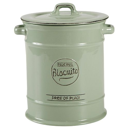 T&G Pride Of Place Large Biscuit Jar Old Green