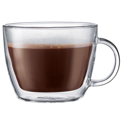 Bodum Bistro Double Wall Glass Cafe Latte Cup Set Of 2