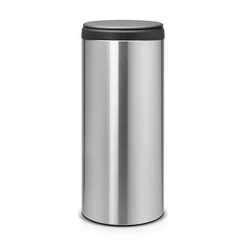 Brabantia Flip Bin 30 Litre Matt Steel Fingerprint Proof / Dark Grey