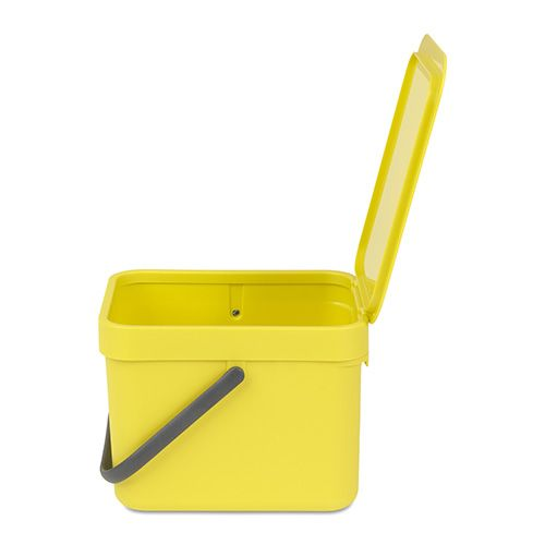 Brabantia Sort & Go Waste Bin 6 Litre Yellow