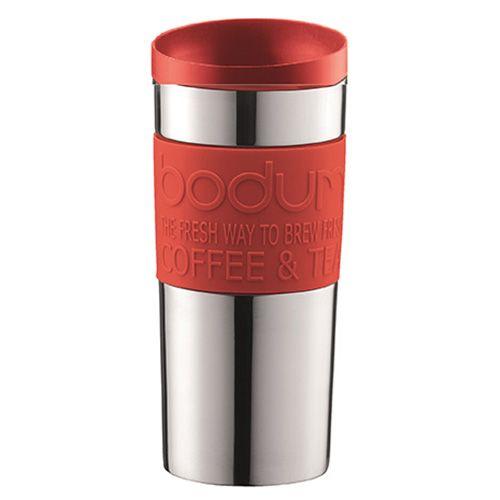 Bodum Travel Mug Stainless Steel Twist Lid Red