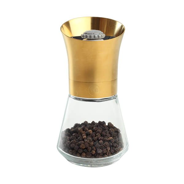 T&G CrushGrind Tip Top Deco Gold Pepper Mill