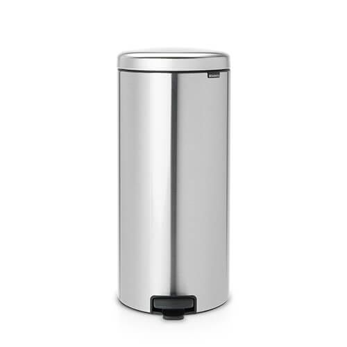 Brabantia NewIcon 30 Litre Pedal Bin Matt Steel Fingerprint Proof