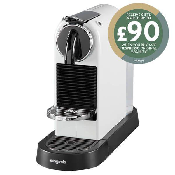Magimix Nespresso Citiz White Coffee Machine with FREE Gifts