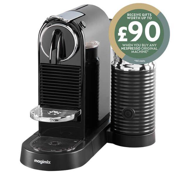 Magimix Nespresso Citiz & Milk Black Coffee Machine with FREE Gift