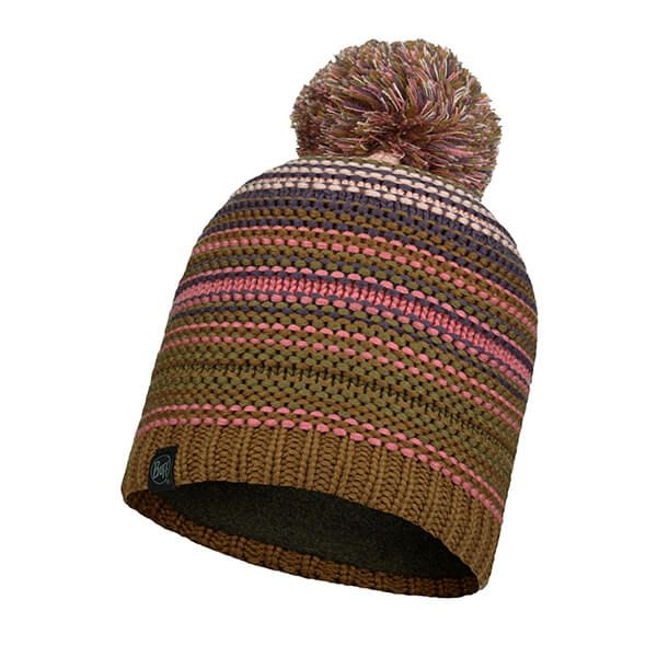 Buff Neper Rose Knitted & Fleece Band Hat