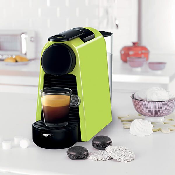 Magimix Nespresso Essenza Mini Lime Green And Aeroccino Coffee Machine With Free Gifts