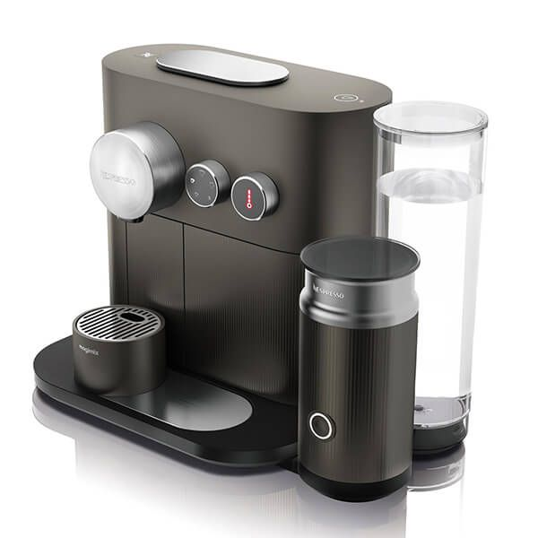 Magimix Nespresso Expert and Milk Anthracite Grey Coffee Machine with FREE Gift
