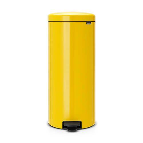 Brabantia NewIcon 30 Litre Pedal Bin Daisy Yellow