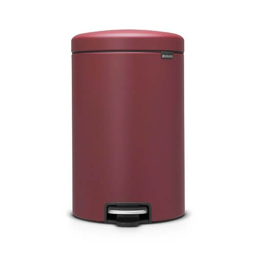 Brabantia NewIcon 20 Litre Pedal Bin Mineral Windsor Red