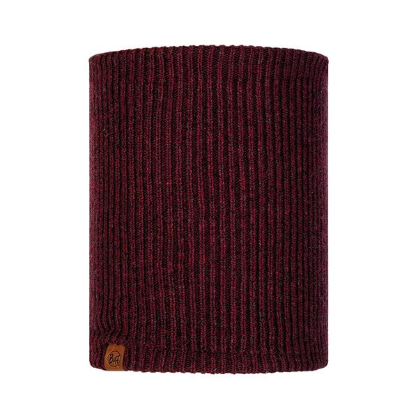 Buff Lyne Maroon Knitted & Fleece Neckwarmer