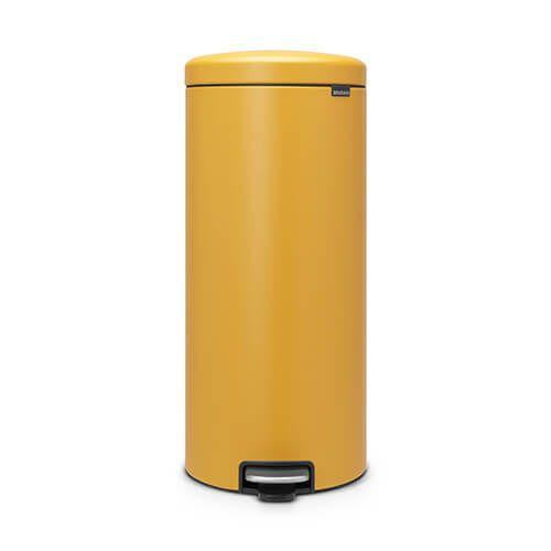 Brabantia NewIcon 30 Litre Pedal Bin Mineral Mustard Yellow
