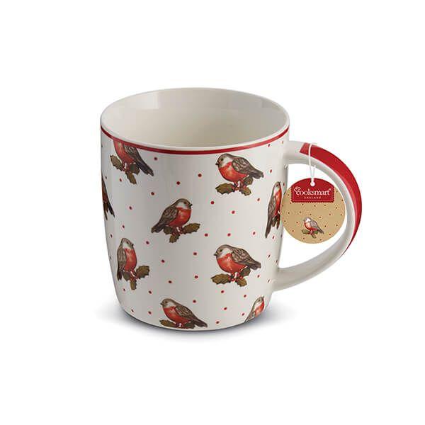 Cooksmart Red Red Robin Barrel Mug Motif