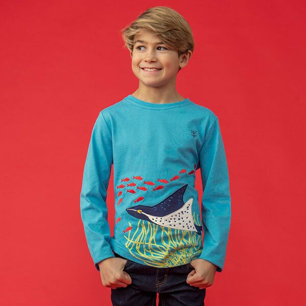 Lighthouse Sting Ray Applique Oliver Top