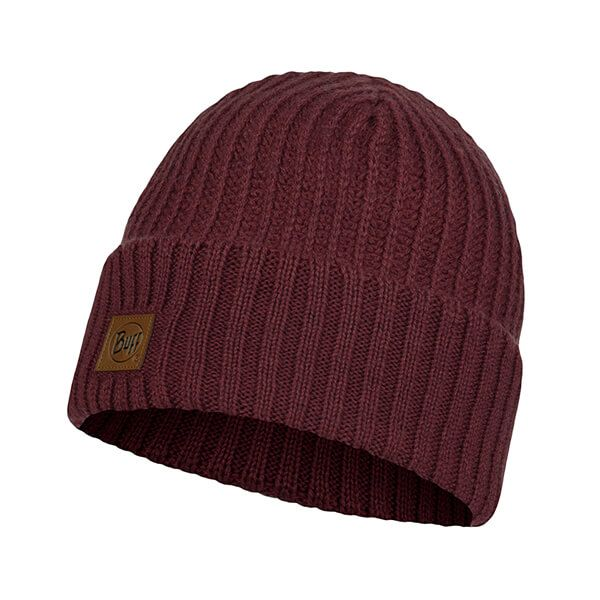 Buff Rutger Maroon Knitted Hat