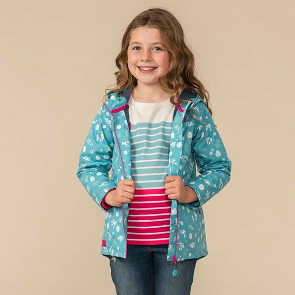 Lighthouse Seashell Print Olivia Jacket