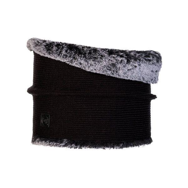 Buff Kesha Rosewood Black Knitted Neckwarmer