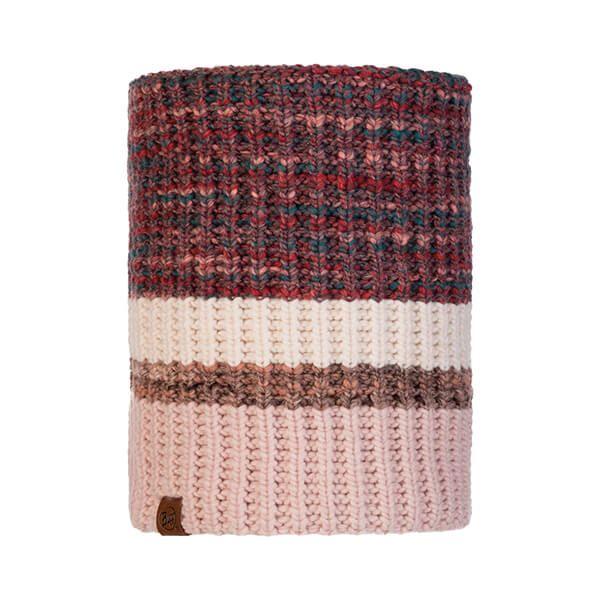 Buff Alina Rusty Blossom Red Knitted & Fleece Neckwarmer