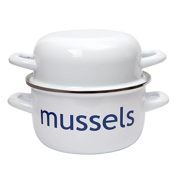 Dexam Mussel Pot 20cm Enameled Steel