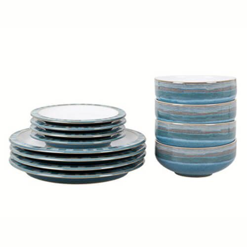 Denby Azure Coast 16 Piece Tableware Set