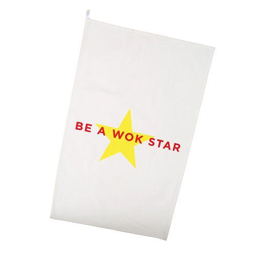 School Of Wok Be A Wok Star Tea Towel