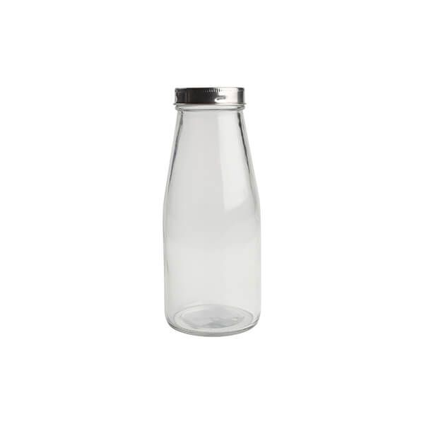 T&G 510ml Small Glass Bottle With Stainless Steel Lid
