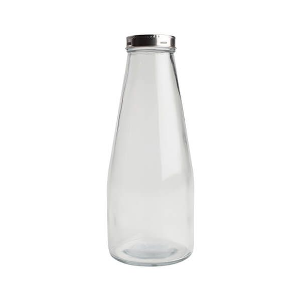T&G 1010ml Large Glass Bottle With Stainless Steel Lid