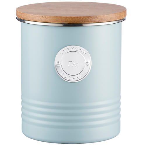 Typhoon Living 1 Litre Blue Tea Canister