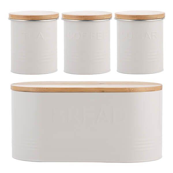Typhoon Essentials 4 Piece Tea, Coffee, Sugar & Bread Set Set Oatmeal