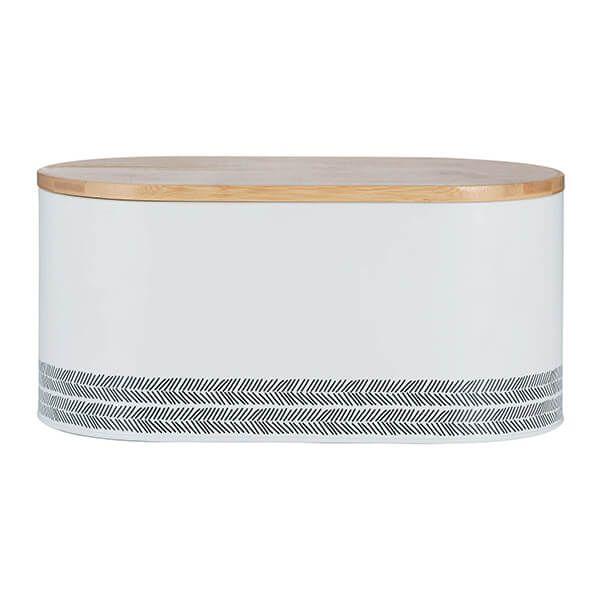 Typhoon White Monochrome Bread Bin