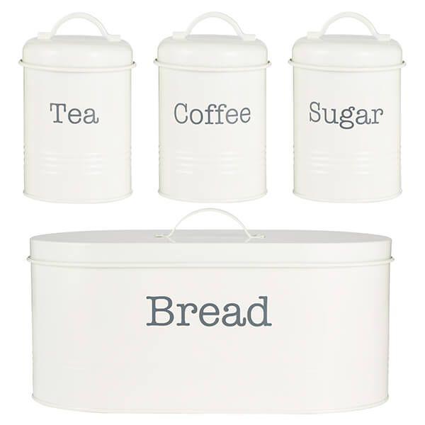 Typhoon Colonna 4 Piece Tea, Coffee, Sugar & Bread Set Cream
