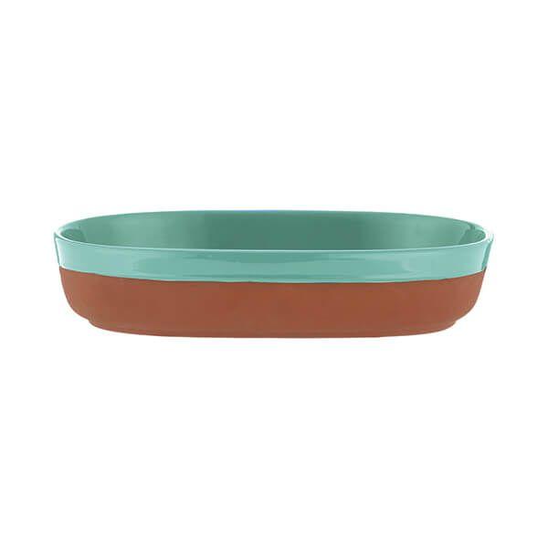 Typhoon World Foods 28 x 18cm Oval Dish Aqua