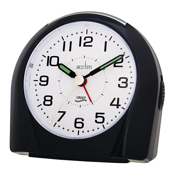 Acctim Europa Alarm Clock Black