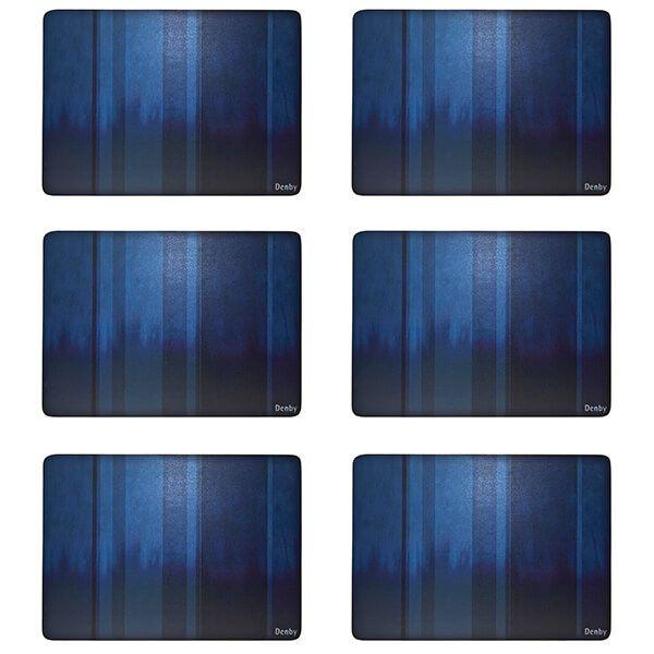 Denby Colours Blue 6 Piece Placemats