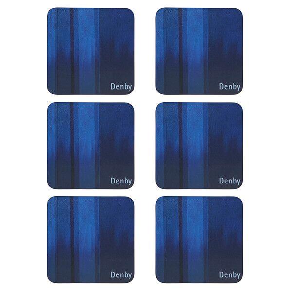 Denby Colours Blue 6 Piece Coasters