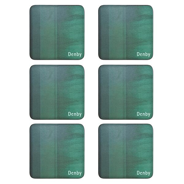 Denby Colours Green 6 Piece Coasters