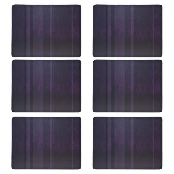 Denby Colours Set Of 6 Purple Placemats